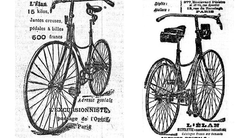 publicités pour les vélos de Jules Truffault et Jeanne