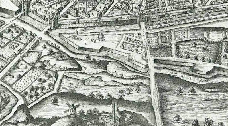 la grange batelière en 1609 extrait du plan de Vassalieu