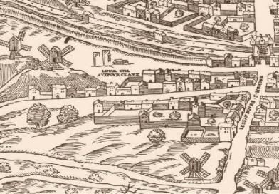 marché aux pourceaux extrait du plan de Belleforest 1552