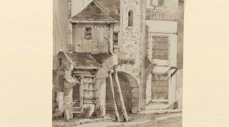 extrait de la cour de la Trinité rue de la Jusienne par Régnier en 1858