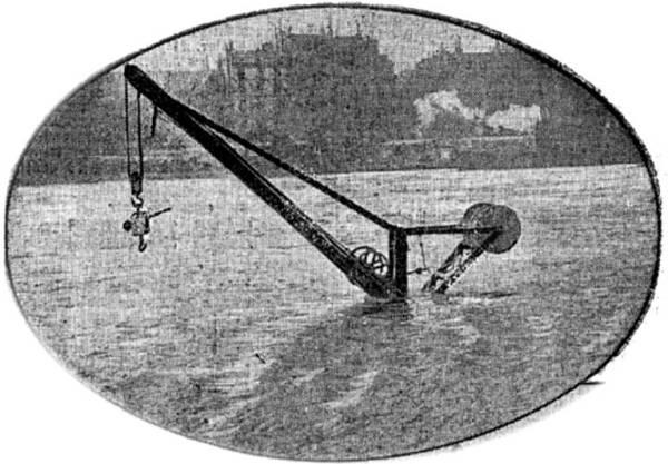 grue sous l'eau le 21 janvier 1910 - petit journal du 22 janvier 1910