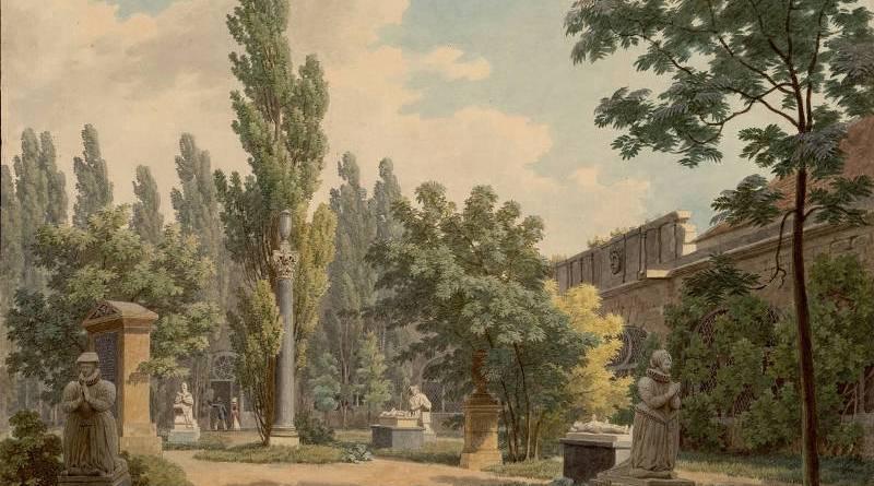 Jardin du cloitre des Petits Augustins par Jean-Lubin Vauzelle