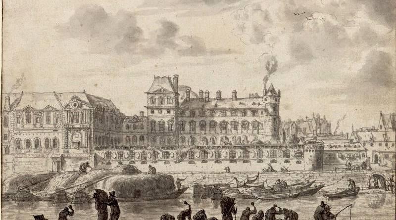 Le Louvre de Paris vue de la Seine par Reinier Zeemans