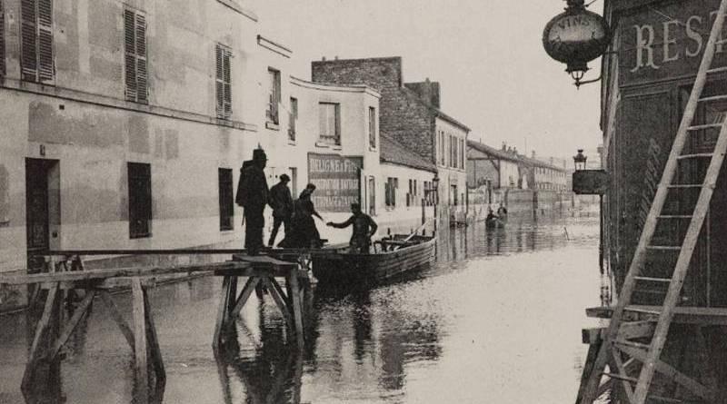 inondation de la rue de javel en janvier 1910