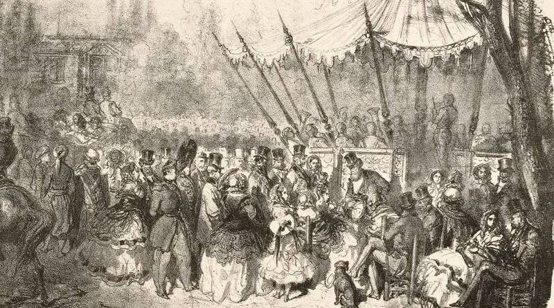 Le pré Catelan - esquisse de Gustave Doré