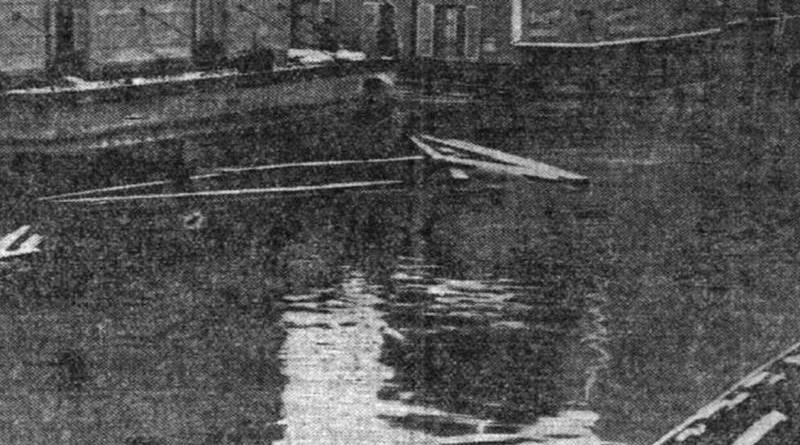 Rue de Bercy inondée en janvier 1910 - Petit Parisien du 28 janvier 1910