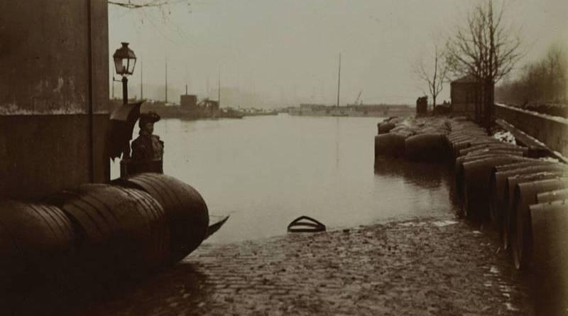 halle au vin inondée en janvier 1910