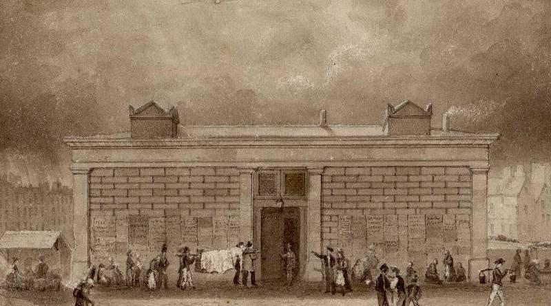 la morgue par Frédéric Nash en 1829