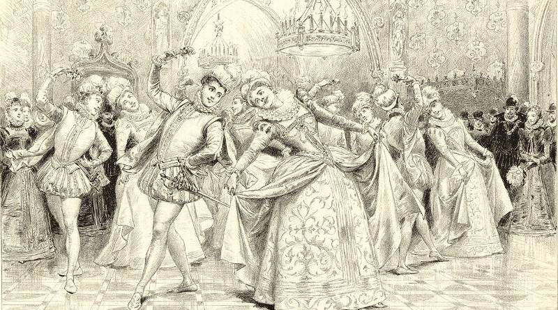 La pavane du 3e acte extrait du théâtre illustré par Adrien Marie