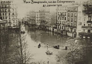 place beaugrenelle inondée en janvier 1910