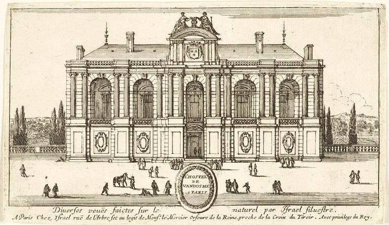 Hôtel de Vendôme à Paris gravé par Israel Silvestre - Louvre