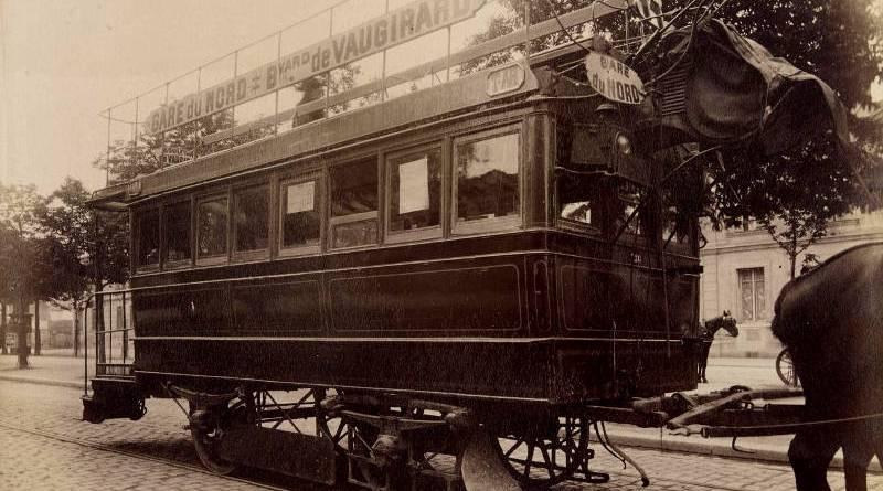 Le tramway parisien en 1910 - photographie par Atget