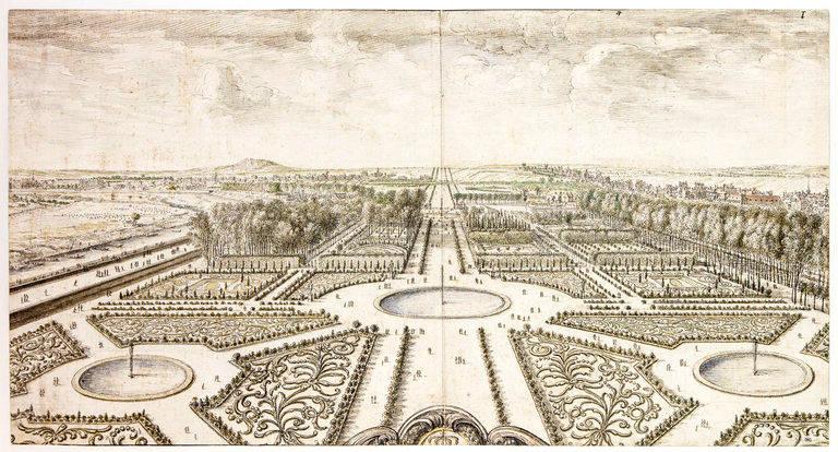 Vue du jardin des Tuileries par Israel Silvestre - Louvre