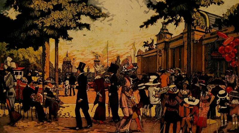 La Promenade des Champs-Elysées en 1910 par Pierre Gatier