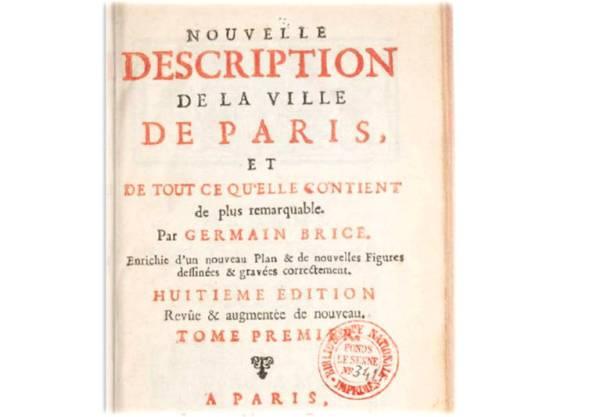 description nouvelle de la Ville de Paris par Germain Brice