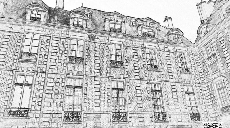 coloriage des facades de la place des Vosges