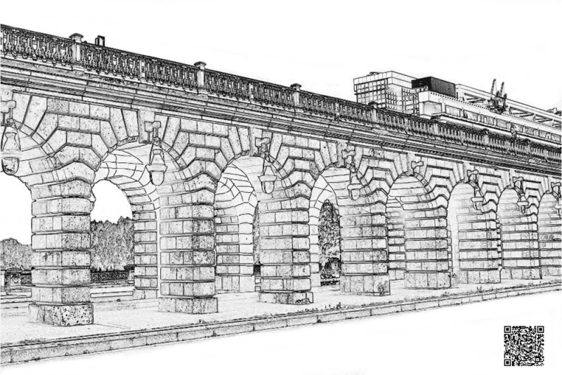 coloriage du pont de Bercy