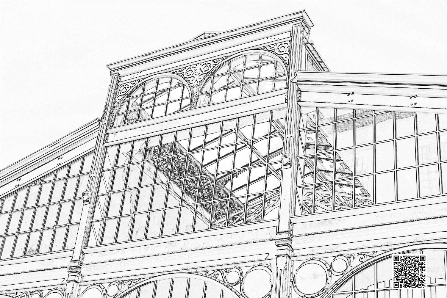 Coloriage du carreau du Temple - Histoires de Paris