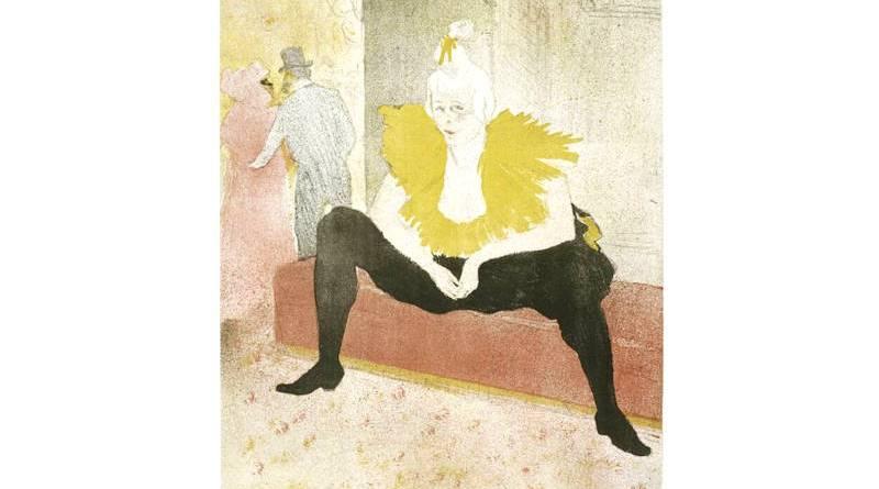 clownesse assise par Toulouse Lautrec