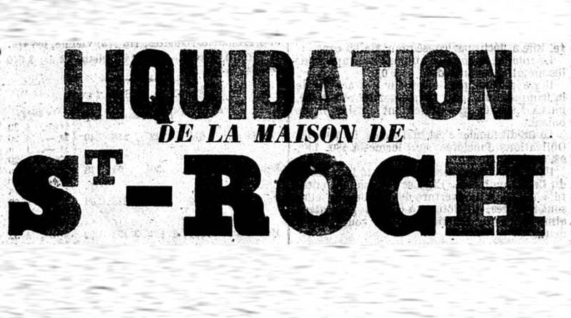 publicité pour la maison de Saint Roch parue dans le Constitutionnel du 9 avril 1859