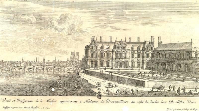 Vue et perspective de la maison de Madame de Bretonvilliers par Israël Silvestre