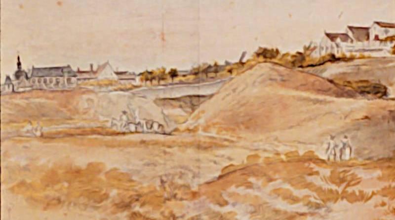extrait de la vue panoramique de Montmartre au XVIIIe siècle