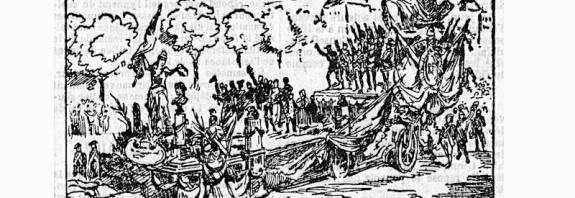 char de la Marseillaise lors du centenaire de la République en 1892 extrait de la Croix du 23 septembre 1892