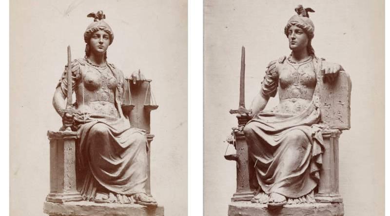 statue de la République d'Auguste Clésinger par Nadar