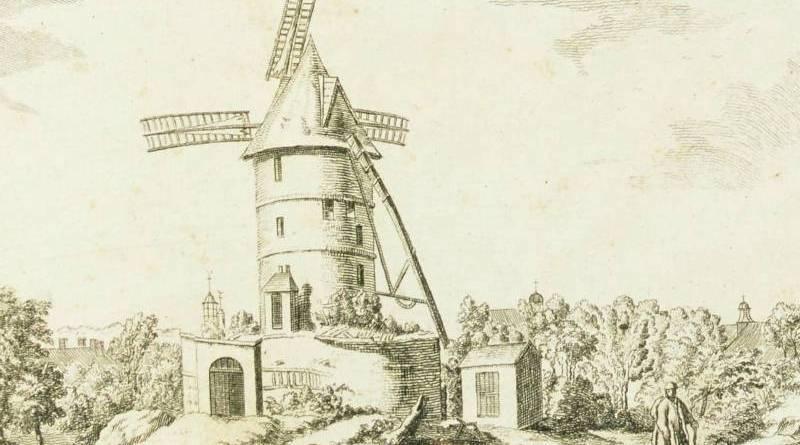 Moulin des Chartreux de Paris d'après Simon Mathurin Lantara