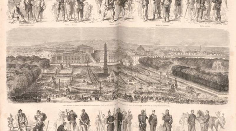 La grande revue militaire à Paris en septembre 1870 - Le Monde illustré du 17 septembre 1870