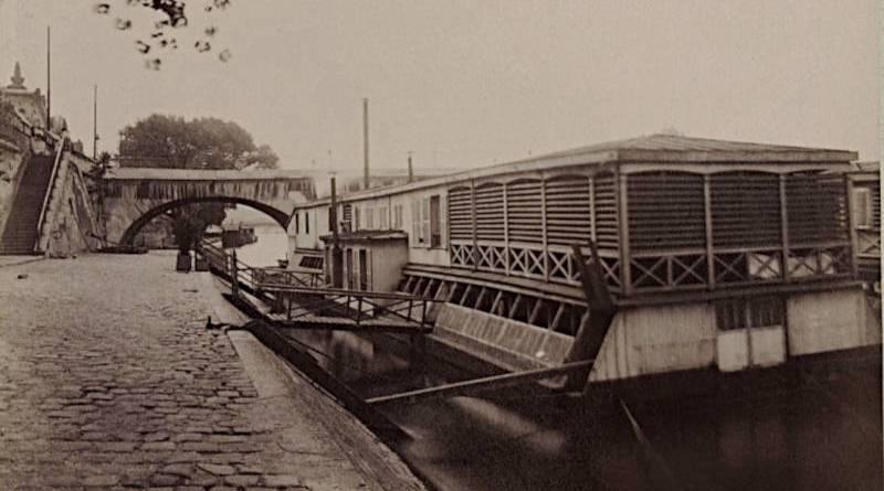 bateau lavoir au port Royal par Eugène Atget en 1911