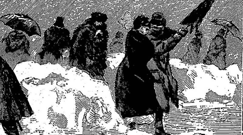 glissades dans les rues - extrait de l'Univers illustré du 20 décembre 1879