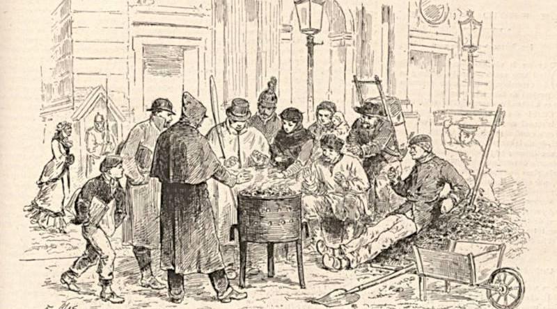 le froid à Paris en 1879 extrait du Monde illustré du 20 décembre 1879