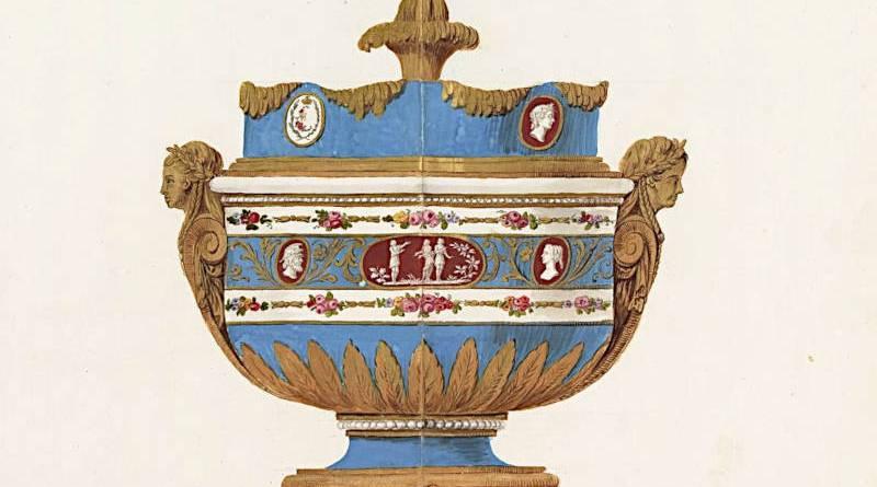 sceau à glace en porcelaine de Sèvres proposé à l'impératrice de Russie