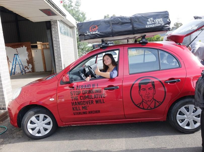 Tasmanie wicked campers voiture road-trip