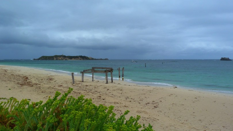 La plage aux raies de Hamelin Bay