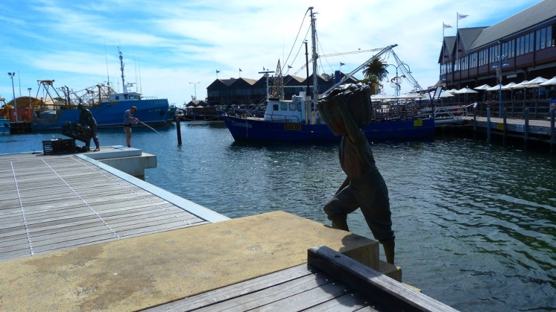 Sculptures de pêcheurs