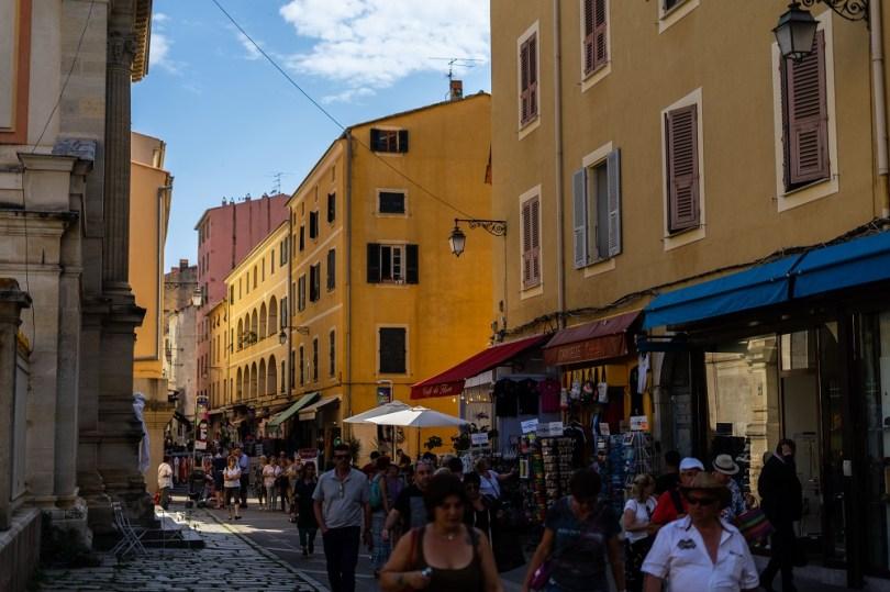 Les rues d'Ajaccio