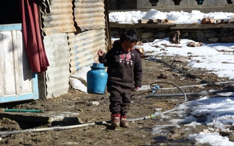Nepal enfant Pisang
