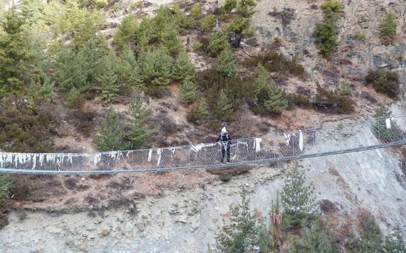 Annapurna pont suspendu