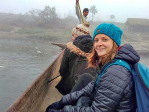 Chitwan pirogue rivière