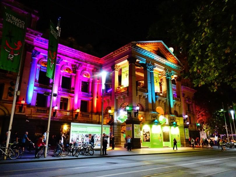 Melbourne nuit ville visite