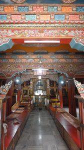 Temple bouddhiste Bodnath Nepal intérieur