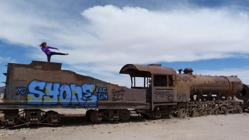 Uyuni bolivie train cimetière
