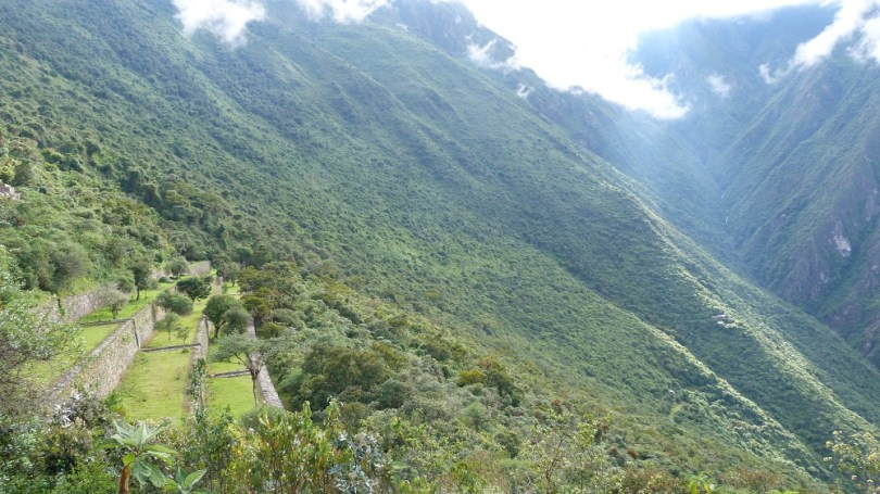 Choquequirao terrasses flanc montagne