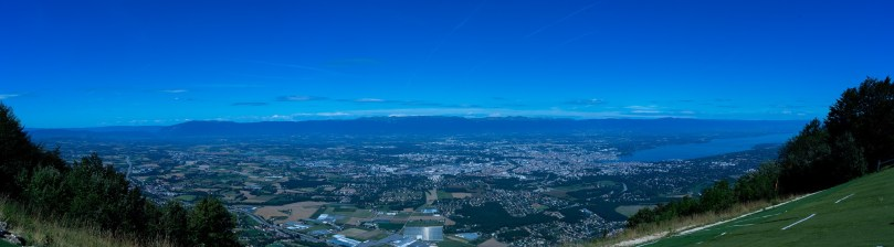mont saleve panorama Geneve Leman