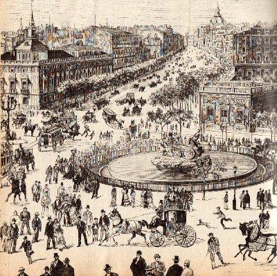 Historia de una cena sorprendente en el Madrid romntico