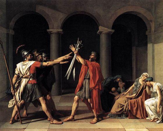O Juramento dos Horácios, Jacques-Louis David