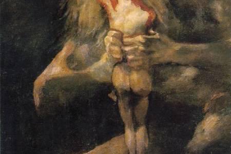 Saturno Devorando um de seus Filhos, Francisco de Goya