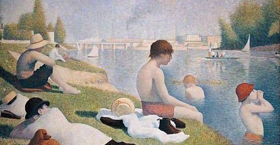 Banhistas em Asnières, Georges Seurat